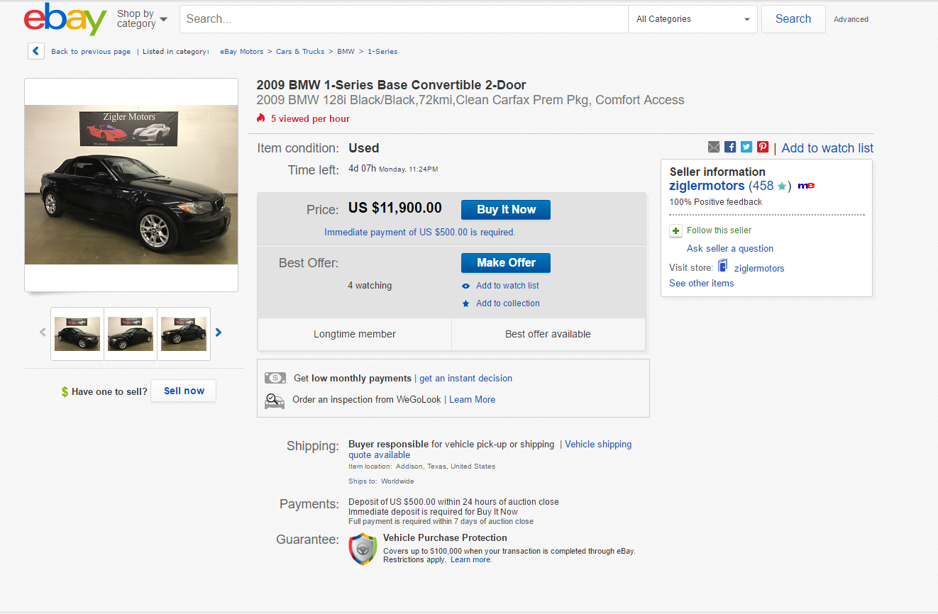 Ebay motors opinions one of the best resources to sell a car for Ebay motors sell car