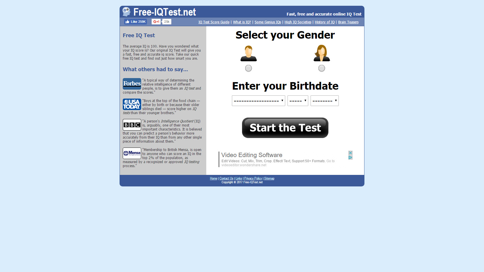 Result of Best Free Iq Test – My Sweet Home